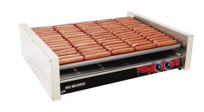 Star Manufacturing X75SG 75 Hot Dog Roller Grill - Slanted Top, 240v
