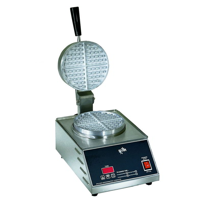 Star SWB7R1E120 Standard Waffle Baker, Single, 7 in  Round Grid, 120 V