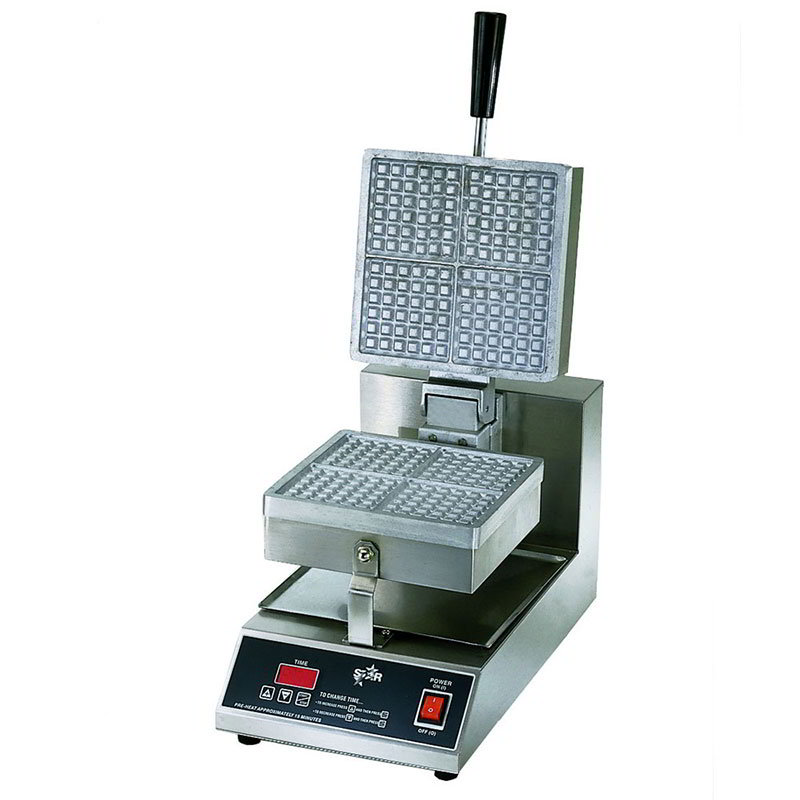 Star SWB8SQE120 Standard Waffle Baker, Single, 8 in Square Grids, 120 V
