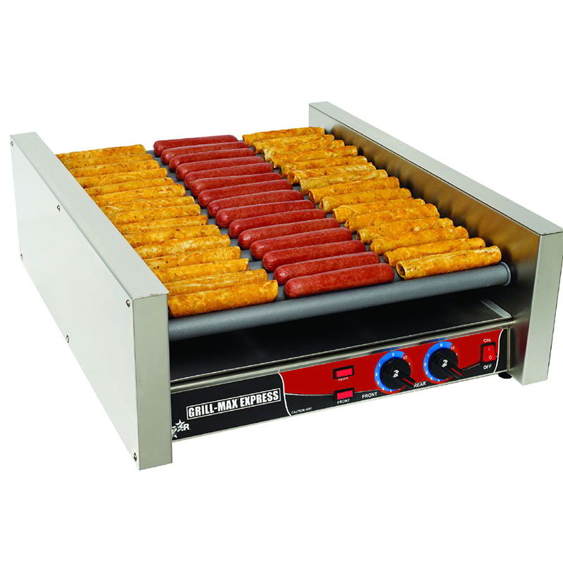 Star X45SG 45 Hot Dog Roller Grill - Slanted Top, 120v