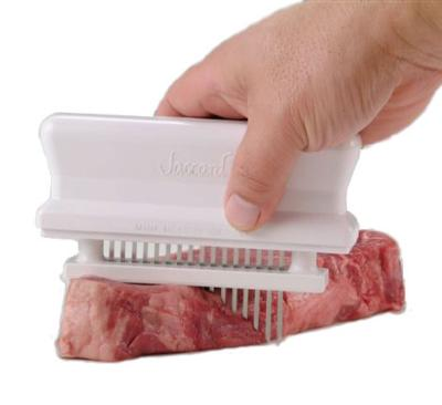 Jaccard 200316 Manual Meat Tenderizer w/ 16-Blades, Dishwasher Safe, White