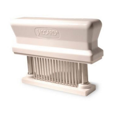 Jaccard 200348 Manual Meat Tenderizer w/ 48-Blades, Dishwasher Safe, White