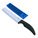 "Jaccard 200966 6"" Ceramic Bread / Bagel Knife w/ Ergonomic Soft Grip Handle"