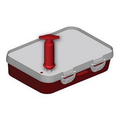 "Jaccard 201301 Instant Marinater w/ 5-Liter Capacity & Hinge Stability Bar, 10x14"", Red/White"
