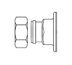 T&S Brass 00AA Female Union Coupling Inlets, 1/2 in IPS, 1/8 in Eccentric