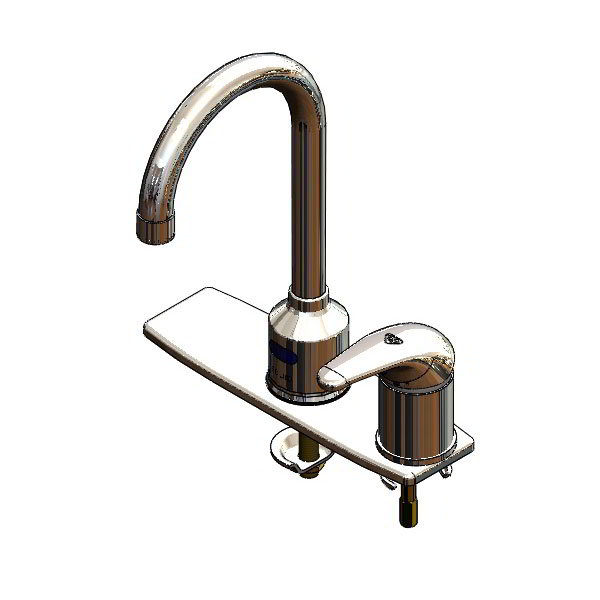 T&S Brass 5EF-1D-DGSM Equip Electronic Faucet, Deckplate and Side Mount Mixer
