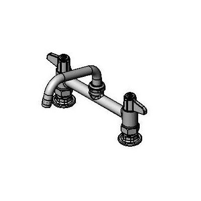 T&S 5F-8DLX06 Deck Mount Faucet w/ 6-in Swing Nozzle, 6-in Center