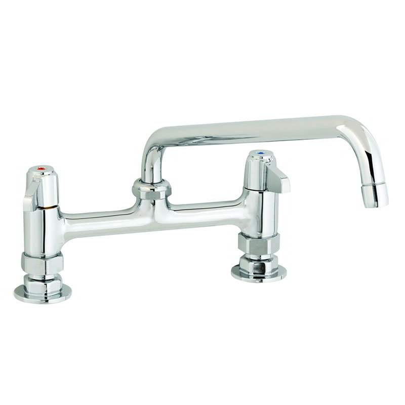 T&S 5F-8DLX08 Deck Mount Faucet w/ 6-in Swing Nozzle, 8-in Center