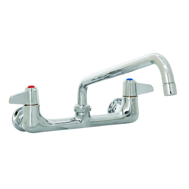 "T&S 5F-8WLX10 Equip Faucet, Wall Mount, 8"" Centers, 10"" Swivel, 2"" Flange"