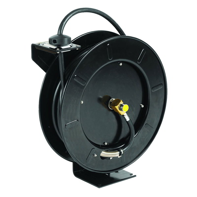 T&S 5HR-242-GH Open Hose Reel, 50-ft w/ 3-ft Hose & GH Adapter