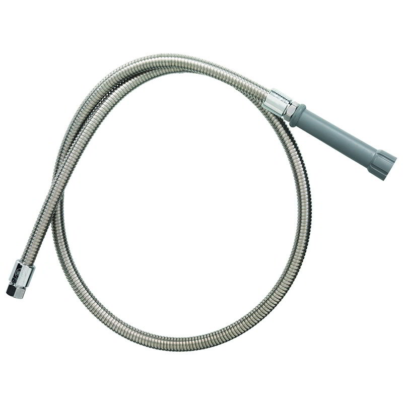 T&S Brass B-0044-H Hose, 44 in, Flexible SS, For Prerinse Over Head Swivel Goosenecks