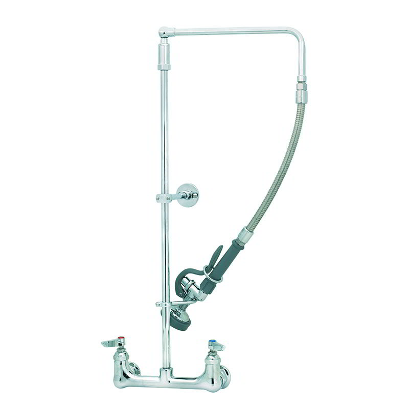 T&S B-0131-B Pre-Rinse Unit, 12 in Gooseneck, 26 in Riser, 6 in Wall Bracket