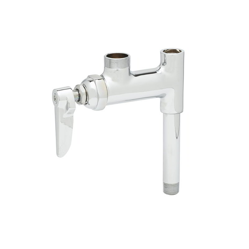T&S B-0155-01LN Add-On Faucet, For Pre-Rinse Units, NO Nozzle, 3 in Nipple