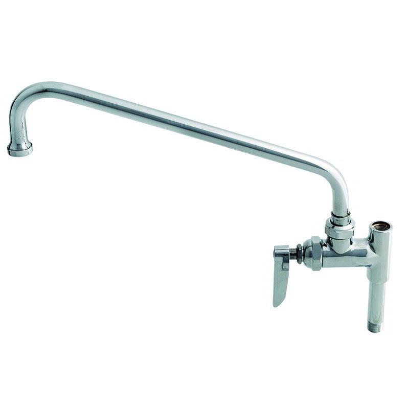 T&S Brass B-0156-CR Add-On Faucet, Ceramic Cartridge, 12 in Swing Nozzle