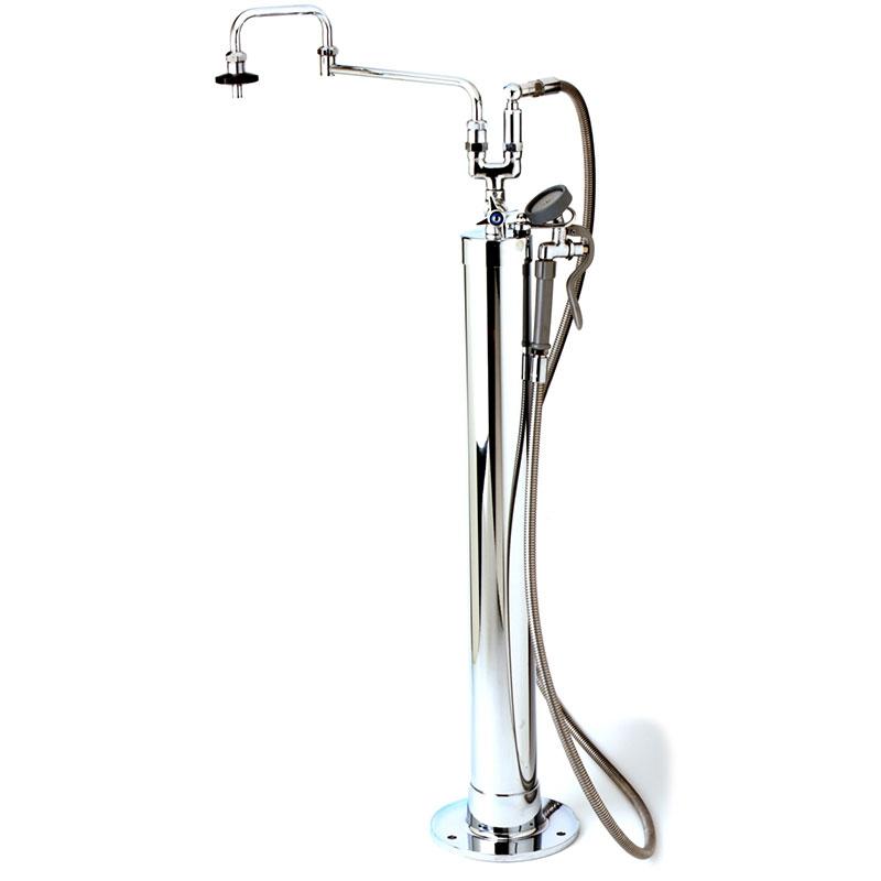 T&S Brass B-0183 Kettle Filler Stanchion, Vacuum Breaker at Hose Connection