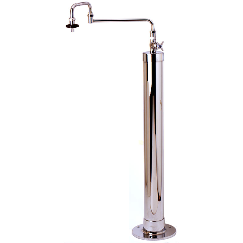 T&s Brass B-0186 Kettle Filler Stanchion w/ Hot & Cold Water Valves