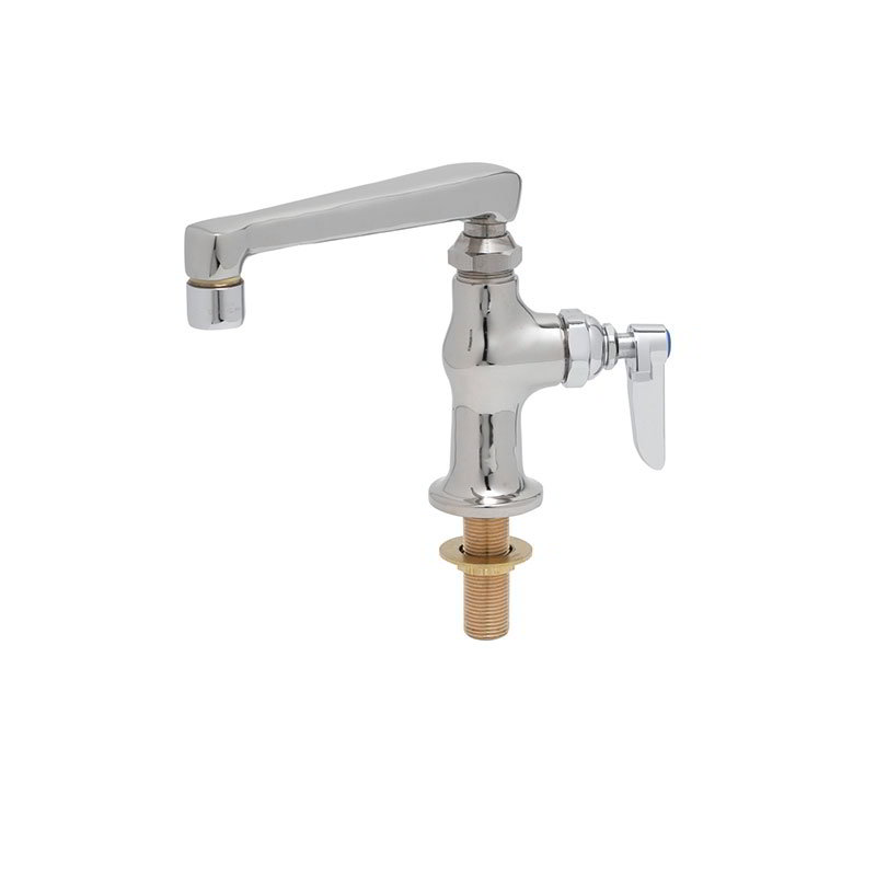 "T&S B-0208 Single Pantry Faucet, Deck Mount, 1/4"" Union Type Tailpieces"
