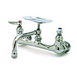 T&S Brass B-0233-01 Sink Mixing Faucet, 6 in Soap Dish, 8 in Centers, Wall Mount