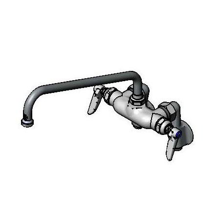T&S Brass B-0241 Sink Mixing Faucet w/ 12-in Nozzle, Adjustable Inlet Arms w/ Stops