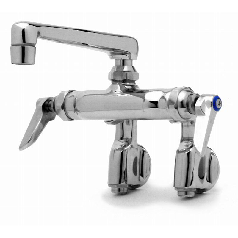 "T&S B-0243 Sink Mixing Faucet, 6"" Cast Nozzle, Adjustable Arms, Integral Stops"