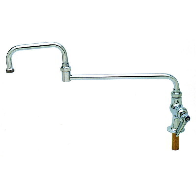T&S B-0256 Single Pantry Faucet w/ Double Joint Swing Nozzle, 15""