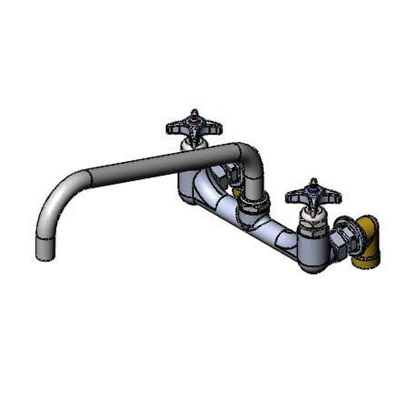 """T&S B-0290-BT Big Flo Kettle & Pot Sink Faucet, 12"""" Swing Nozzle, British Threads"""