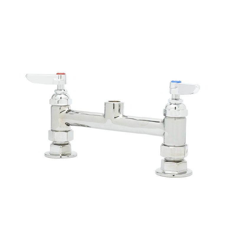 T&S Brass B-0320-LN Faucet, Rigid Base, 1/2 in IPS Female, 8 in Centers, Deck Mount