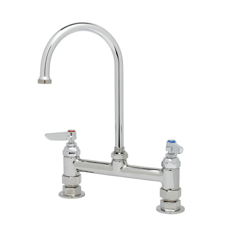 T&S Brass B-0321 Faucet, Deck Mount, Swivel Gooseneck, 11-3/4 in H