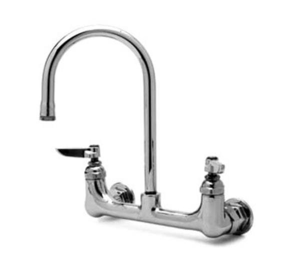 "T&S B-0331-BST Faucet, Wall Mount, Swivel Gooseneck, Built-In Stops, 9-1/4""H"