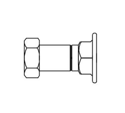 "T&S B-0440 Inlet Extension, Adds 1-3/4"" To Standard 00AA"