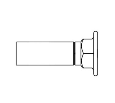 T&S B-0447 Inlet Extension Adds 3-3/4 in to Faucets 1/2 IPS Inlets Restaurant Supply