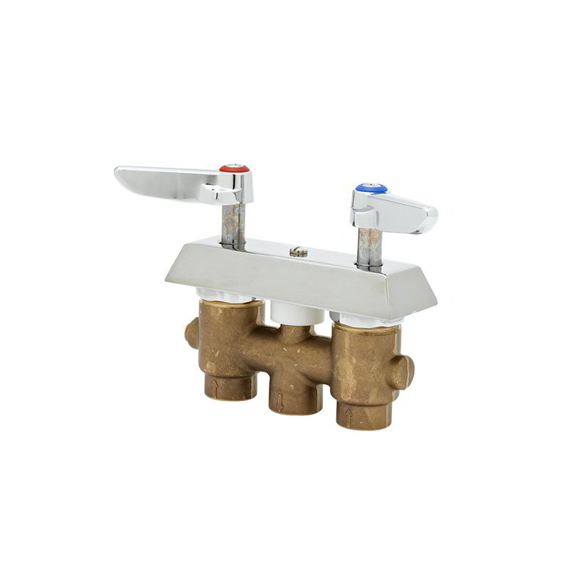 T&S B-0513 Concealed Mixing Faucet, Lever Handles, 3 in Centers