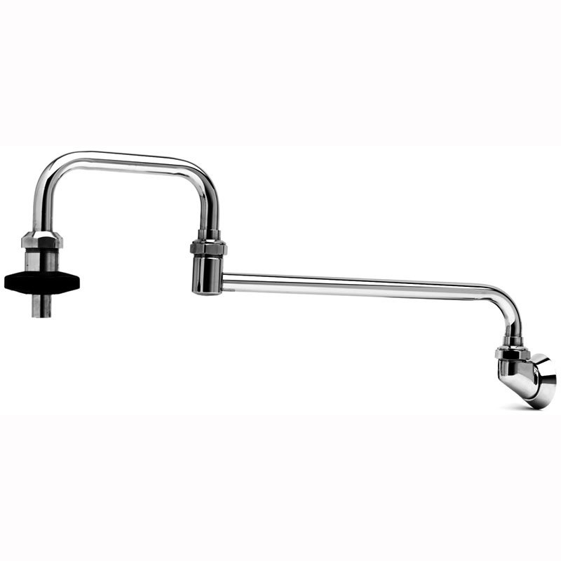T&s Brass B-0580 Pot Filler Faucet, Splash-Mounted,  Double-Joint Nozzle, 18 in L