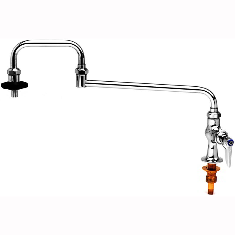 T&S B-0590 Pot Filler Faucet, 18 in Long, Double Joint, 1/4 in Union Tailpiece