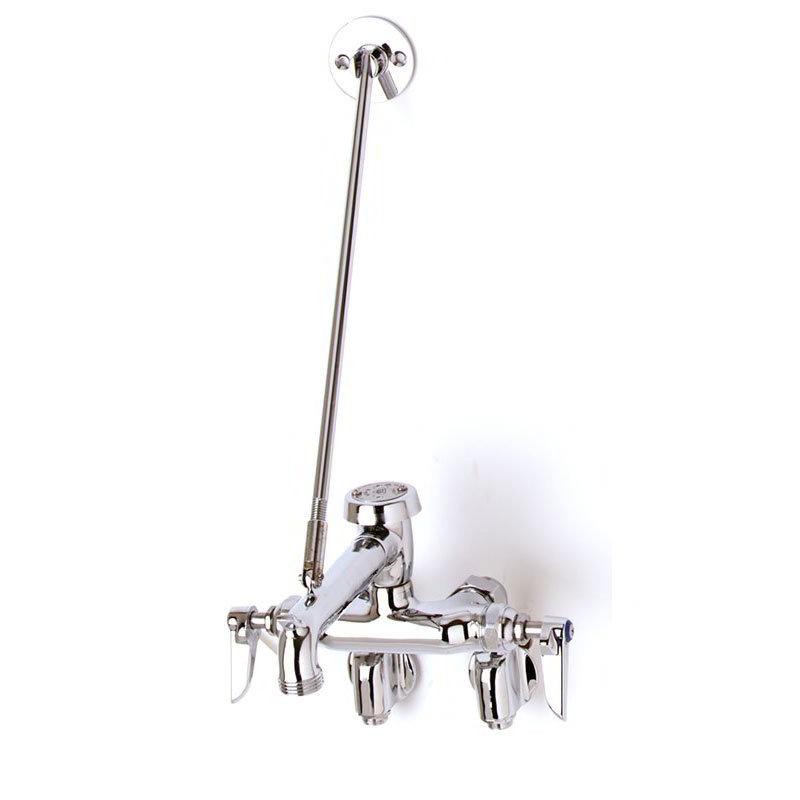 T&S B-0667-POL Service Sink Faucet w/ Adjustable Centers & Vacuum Breaker