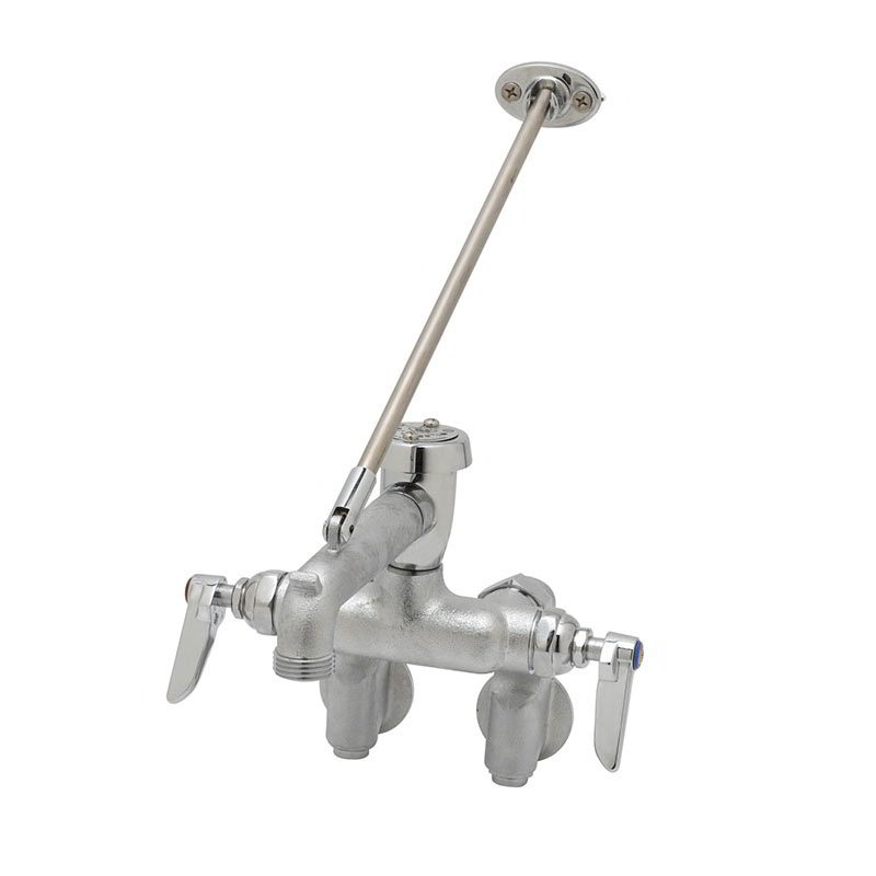 T&S B-0668-RGH Service Sink Faucet w/ Adjustable Brace & Vacuum Breaker, Rough