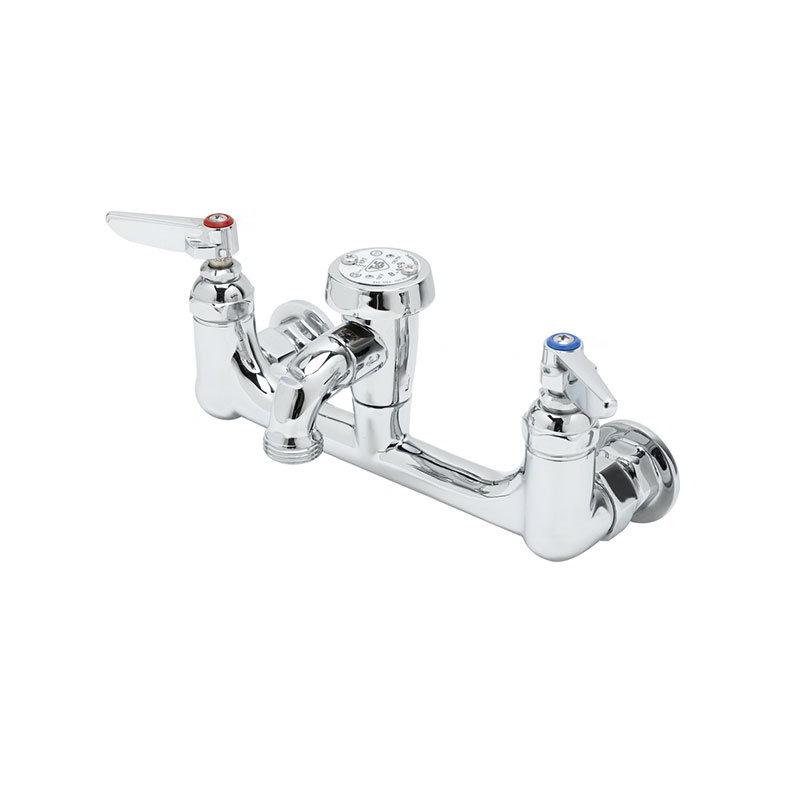 T&s Brass B-0674-POL Service Sink Faucet w/ Vacuum Breaker & Pail Hook, Polished