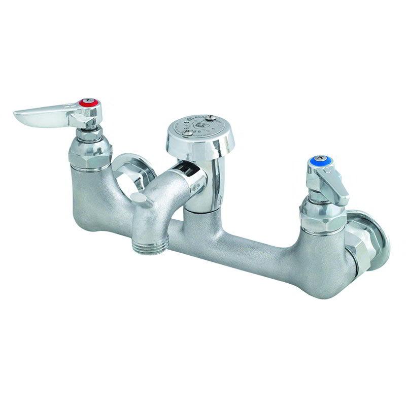 T&S B-0674-RGH Service Sink Faucet w/ Vacuum Breaker & Pail Hook, Rough