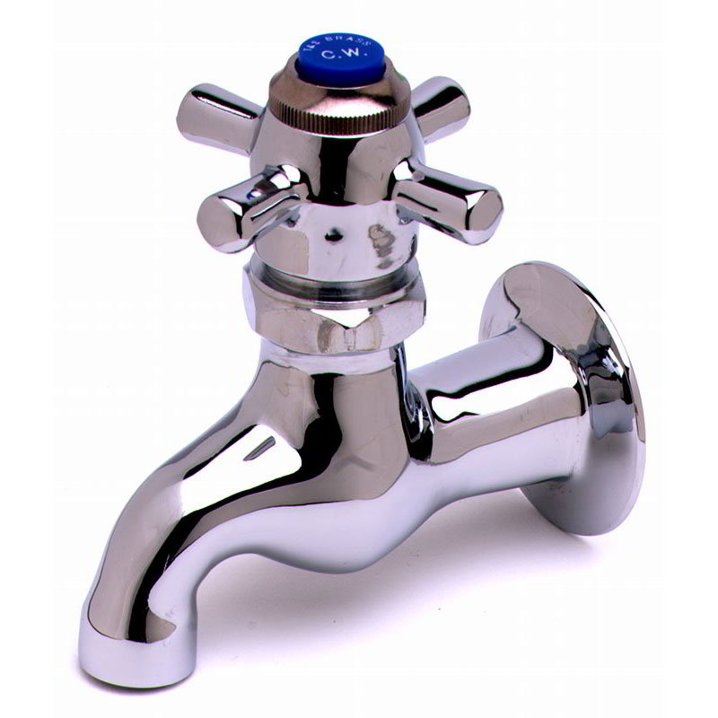 "T&S B-0706 Self-Closing Single Sink Faucet, 1/2"" IPS Female Inlet"