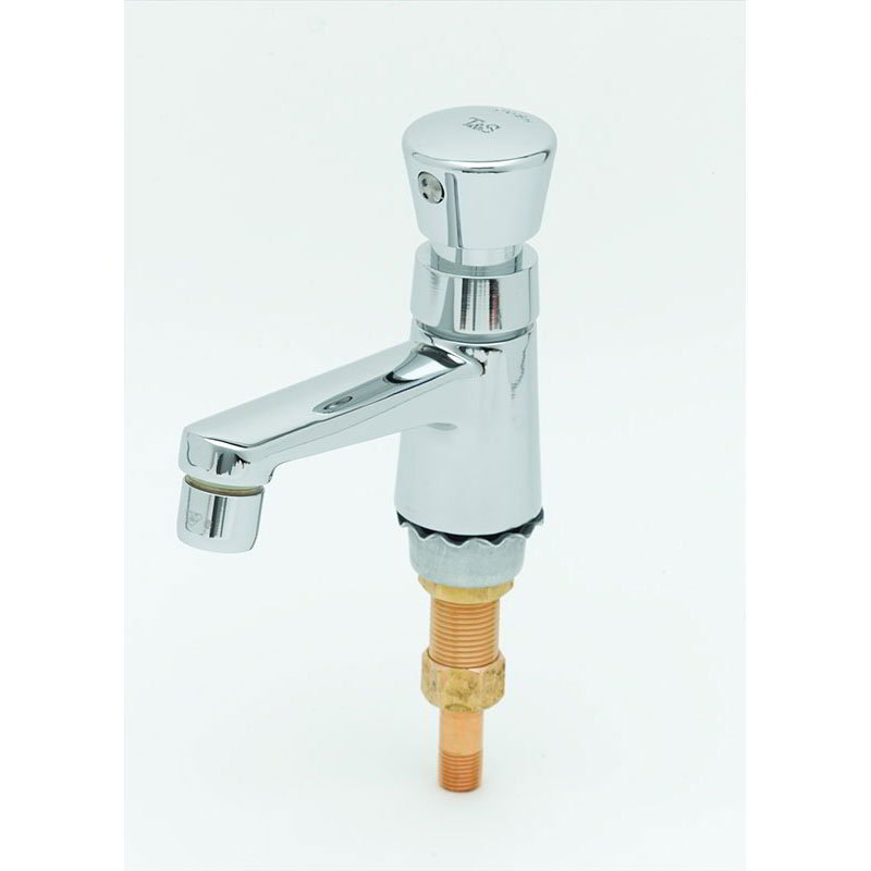 T&S B-0710-01 Single Temperature Basin Faucet w/ Aerator Outlet & Clear Handle
