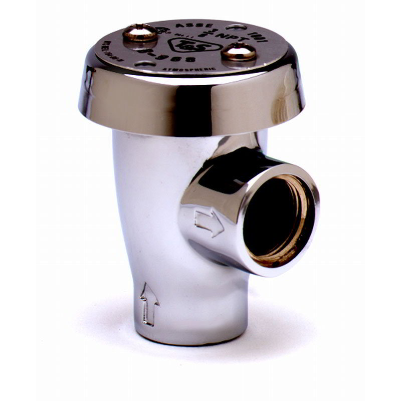 T & S Brass B-0968 Vacuum Breaker w/ 3/8-in IPS Female Inlet & Outlet