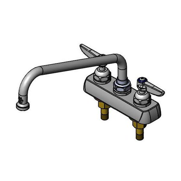 T&S Brass B-1103 Faucet, 12 in Swivel Nozzle, Deck Mount