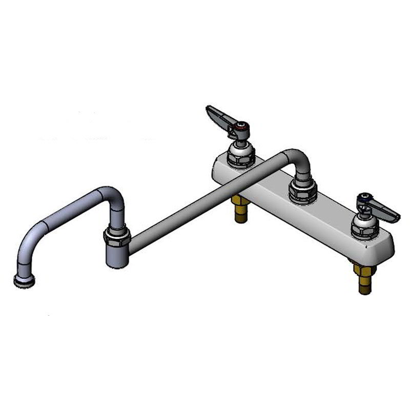 "T&S B-1132 Faucet, 18""Double-Jointed Nozzle, Deck Mounted"
