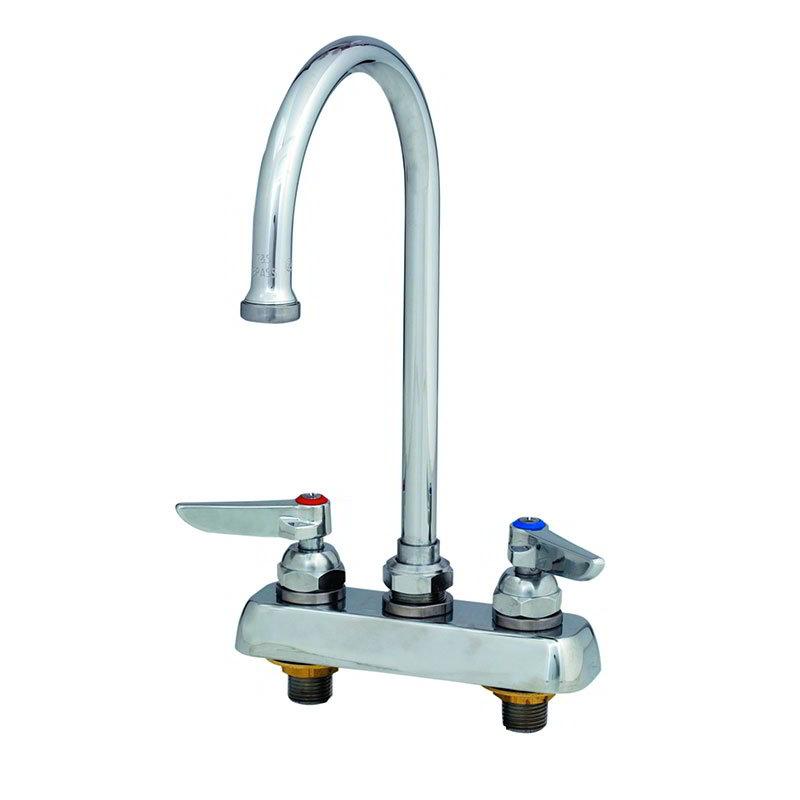 T&S B-1141 Faucet, Gooseneck Nozzle, Deck Mount-Tall