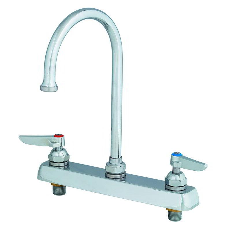 T&S B-1142 Faucet, Gooseneck Nozzle, Deck Mount-Tall