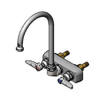 T&S B-1145 Faucet, Gooseneck Nozzle, Back Mounted
