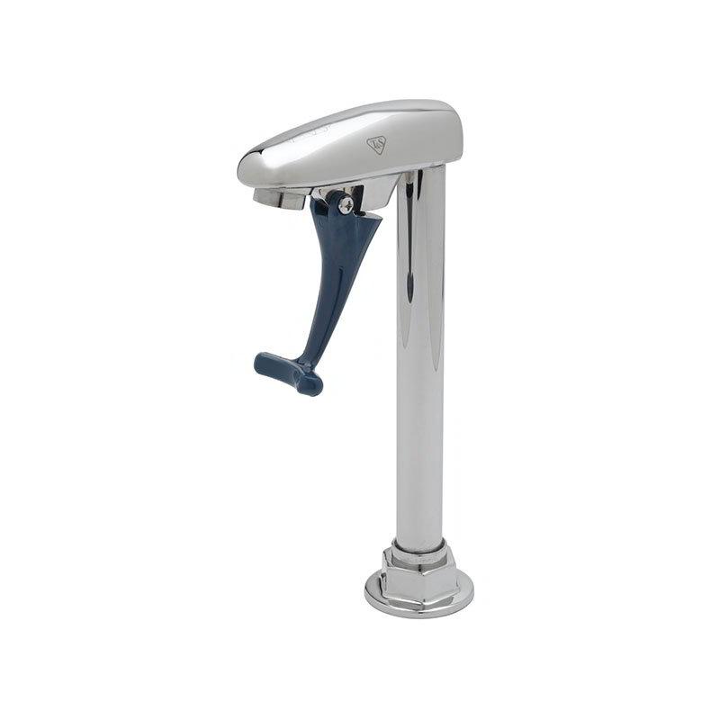T&S Brass B-1220 Pedestal Push Back Glass Filler, Double, Wall Mounted