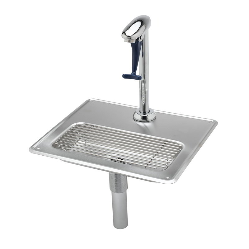 T&s Brass B-1230 Water Station, 10.5 in, Push Back Glass Filler