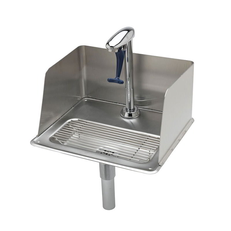 T&S Brass B-1235 Water Station w/ Splash Guard, 10.5 in, Push Back Glass Filler