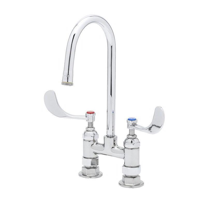 """T&S B-2389 Mixing Faucet, 4"""" C/C, 120 x Rigid GN & 4 Hanldes"""